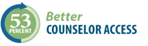 53 percent better counselor access